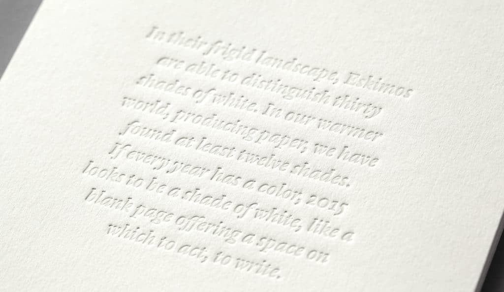 Minke - Impresión letterpress