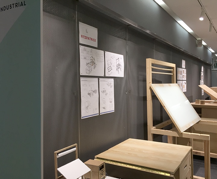 Exposición de prototipos de mobiliario para ilustradores